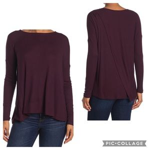 NWT H by Bordeaux Ribbed Knit Back Vent Sweater